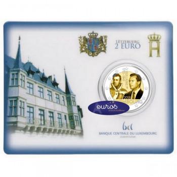 Coincard 2 euros BU Luxembourg 2018 - 175ème anniversaire de la mort du Grand Duc Guillaume Ier