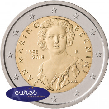 2 euros commémorative SAINT MARIN 2018 - 420° anniversaire de la naissance de Gian Lorenzo Bernini - BU