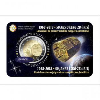 Coincard 2 euros BELGIQUE 2018 - ESRO-2B, Premier Satellite Européen - UNC