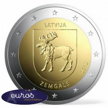 2 euros commémorative LETTONIE 2018 - Région de Zemgale -UNC