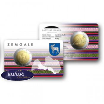 Coincard 2 euros commémorative LETTONIE 2018 - Région de Zemgale - BU