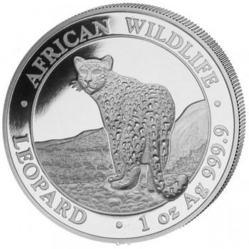 SOMALIE 2018 - 100 Shillings - 1 oz - Leopard, la Faune Africaine