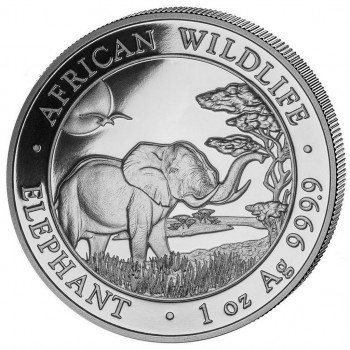 SOMALIE 2019 - 100 Shillings - 1 oz - Elephant, la Faune Africaine