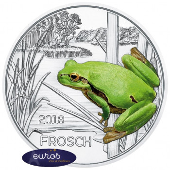 3 euros AUTRICHE 2018 - La Grenouille - Série animaux 9/12