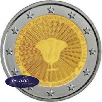 2 euros commémorative GRECE 2018 - Union du Dodécanèse avec la Grèce - UNC