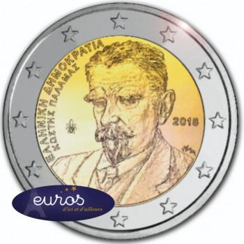 2 euros commémorative GRECE 2018 - Kostis Palamas - UNC