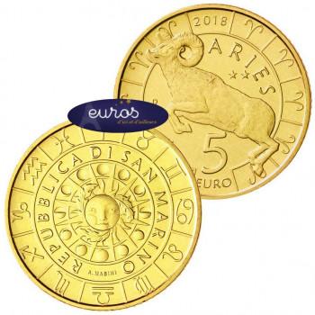5 euros commémorative SAINT MARIN 2018 - Horoscope - Le Bélier - 1/12