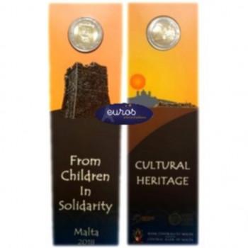 Coincard 2 euros commémorative MALTE 2018 - Héritage Culturel - avec poinçon MdP