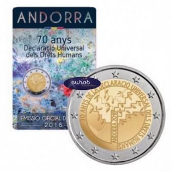 2 euros commémorative ANDORRE 2018 - Déclaration des Droits de l'Homme