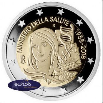 2 euros commémorative ITALIE 2018 - Ministère de la Santé - UNC