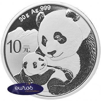 CHINE 2019 - 10 yuan - Panda - Bullion Argent 30 grammes