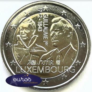 2 euros commémorative LUXEMBOURG 2018 - Grand Duc Guillaume Ier - UNC