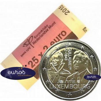 Rouleau 25 x 2 euros commémoratives LUXEMBOURG 2018 - 175ème anniversaire de la mort du Grand Duc Guillaume Ier - UNC