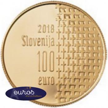 100 euros SLOVENIE 2018 en Or 900‰ - 100ème anniversaire de la fin de la Guerre 1914 - 1918