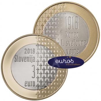 3 euros commémorative SLOVENIE 2018 - 100ème anniversaire de la fin de la Guerre 1914 - 1918