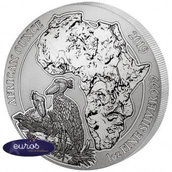 RWANDA 2019 - African Once, Bec en Sabot du Nil - 1 Oz - Argent 999,99‰ - Bullion Coin