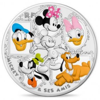 Mickey et ses Amis - 50 euros FRANCE 2018 colorisée 5oz argent