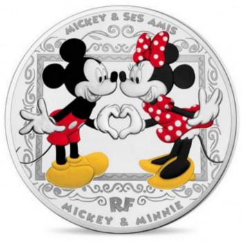 Mickey et ses Amis - 10 euros FRANCE 2018 colorisée argent BE