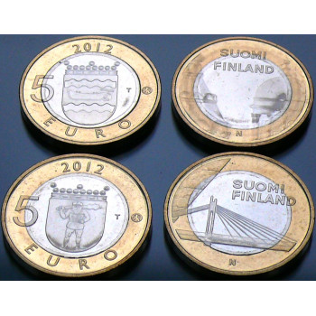 2 x 5 euros Finlande 2012