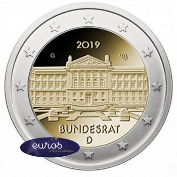 2 euros commémorative ALLEMAGNE 2019 - 70ème anniversaire du Bundesrat allemand - UNC