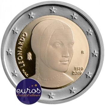 2 euros commémorative ITALIE 2019 - Leonard de Vinci - Belle Epreuve