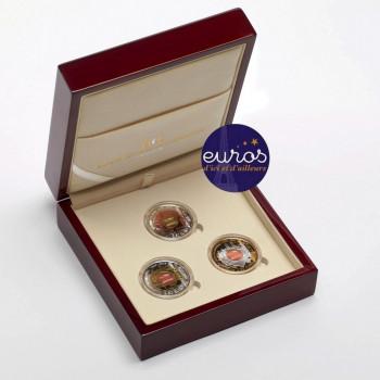 Coffret UNESCO pluri-annuel 3 x 2,5 euros LUXEMBOURG 2018 - 2020 - argent 925‰