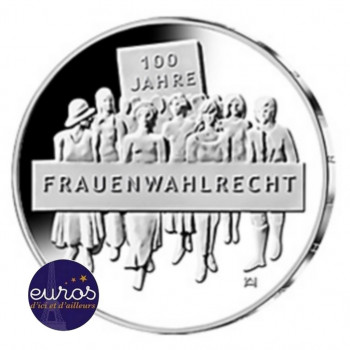 20 euros ALLEMAGNE 2019 - Centenaire du droit de Vote des Femmes - Ag 925 ‰
