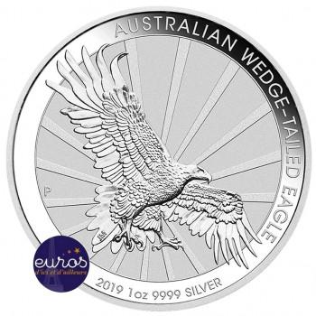AUSTRALIE 2019 - 1$ AUD - Wedge-Tailed Eagle ou Aigle à Queue Blanche - 1 oz argent 999,99‰ - Bullion Coin