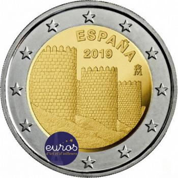 2 euros commémorative ESPAGNE 2019 - Avila et ses églises extra-muros - UNC