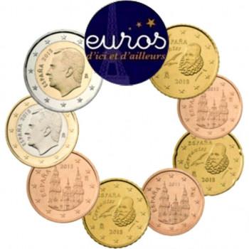 Série 1 cent à 2 euros ESPAGNE 2019 - UNC
