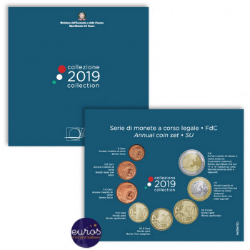 Set BU ITALIE 2019 - Série 1 cent à 2 euros