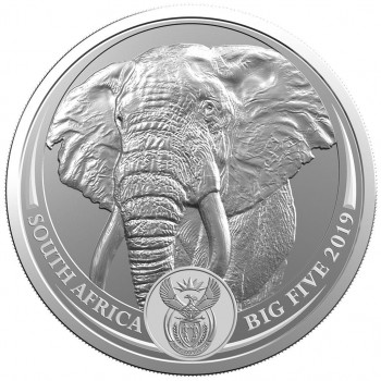 AFRIQUE du SUD 2019 - Big Five - Elephant - Argent 1 Oz - Bullion Coin (n°1)