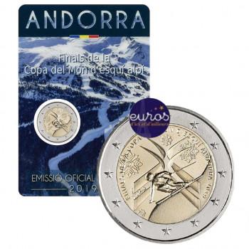 2 euros commémorative ANDORRE 2019 - Coupe du Monde de Ski Alpin - UNC