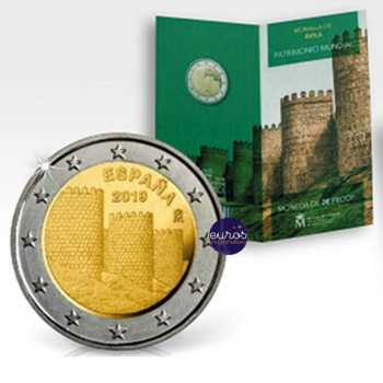 2 euros commémorative ESPAGNE 2019 - Avila - UNESCO - Belle Epreuve