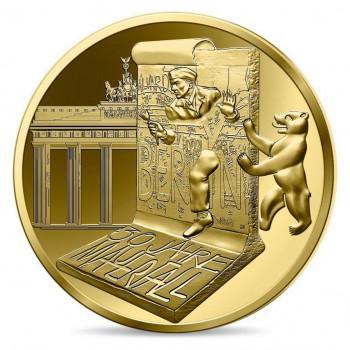 5 euros 1/2 g. Or BE France 2019 - Chute du Mur de Berlin