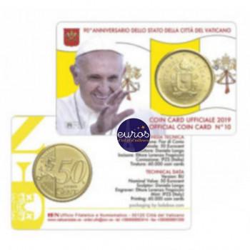 Coincard 0,50€ BU VATICAN 2019 n°10 - Le Saint Père