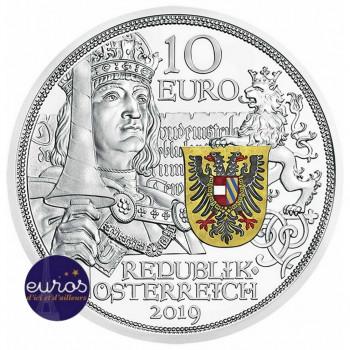 10 euros commémorative AUTRICHE 2019 - Chevalier, 825 ans de la Monnaie Autrichienne - Argent BE 925/1000