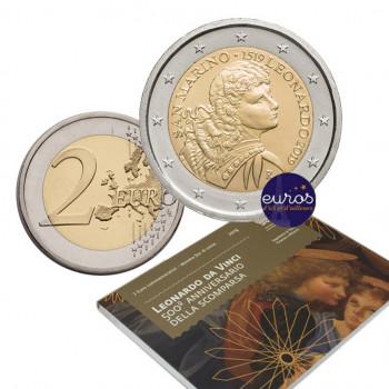 2 euros commémorative SAINT MARIN 2019 - Léonard de Vinci - BU