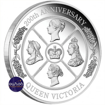 AUSTRALIE 2019 - 1$ AUD - Reine Victoria - 1 Oz argent - Bullion