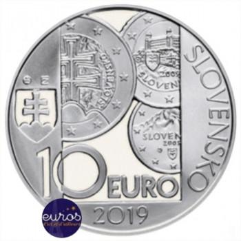 10 euros SLOVAQUIE 2019 - Introduction de l'Euro en Slovaquie - Brillant Universel