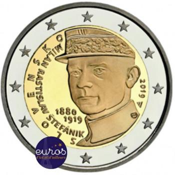 2 euros commémorative SLOVAQUIE 2019 - Milan Rastislav Štefánik - UNC