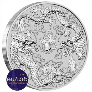 AUSTRALIE 2019 - 1$ AUD - Double Dragon - 1oz (once) argent - Bullion