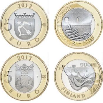 5 euros Finlande 2013 Savonia et Karelia