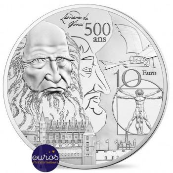 Da Vinci - Europe de la Renaissance - 10 euros FRANCE 2019 - Argent BE