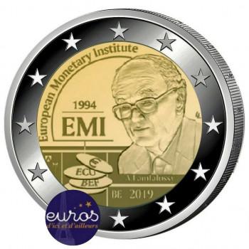 2 euros commémorative BELGIQUE 2019 - Institut Monétaire Européen - BU