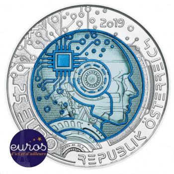 25 euros AUTRICHE 2019 - Argent-Niobium - L'Intelligence Artificielle