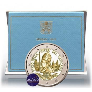 2 euros commémorative VATICAN 2019 - 90 ans de la Cité du Vatican - Brillant Universel