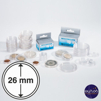 Capsules rondes x 10 - Diamètre 26mm - LEUCHTTURM