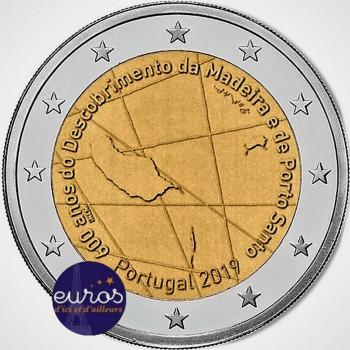 2 euros commémorative PORTUGAL 2019 - Découverte de l'île de Madère - UNC