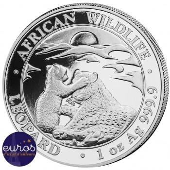 SOMALIE 2019 - 100 Shillings - 1 oz argent - Leopard, la Faune Africaine
